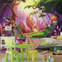 Children's murals magical forest