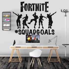 Vinyl stickers video game fortnite