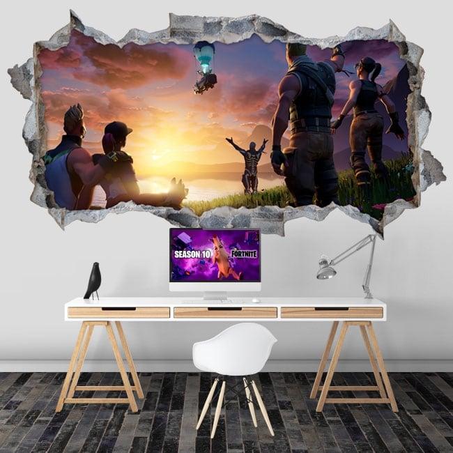 Vinyl wall hole 3d fortnite