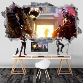 Vinyls hole wall 3d video game fortnite