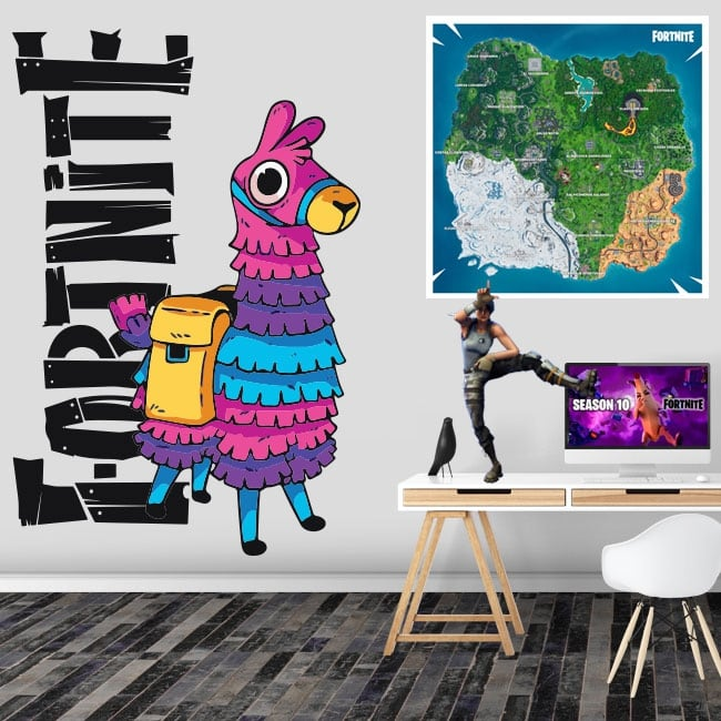 Vinyl and stickers llama from fortnite