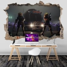 Vinyls hole wall video game fortnite 3d