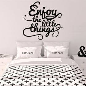 Decorative vinyl english phrase enjoy the little things