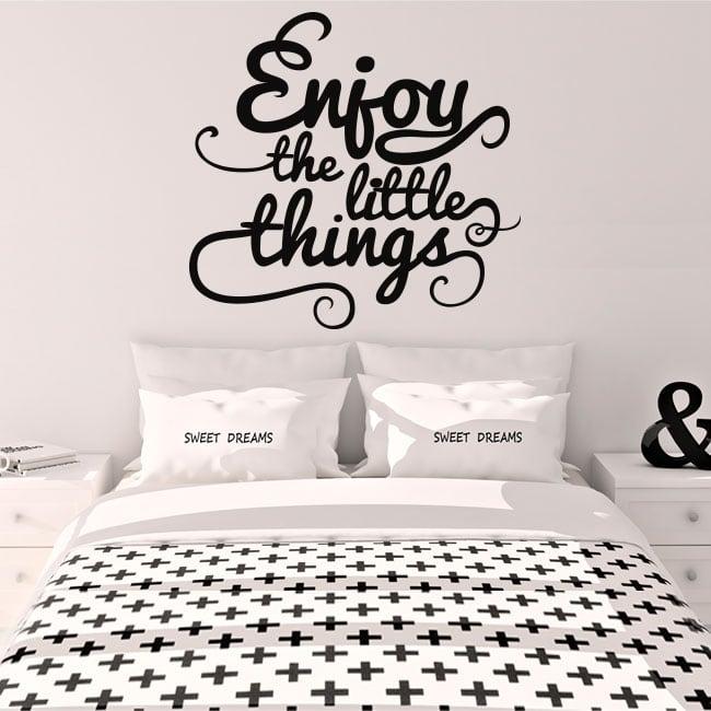 Decorative vinyl english phrase enjoy the little things