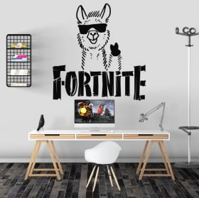 Vinyl stickers from fortnite video game