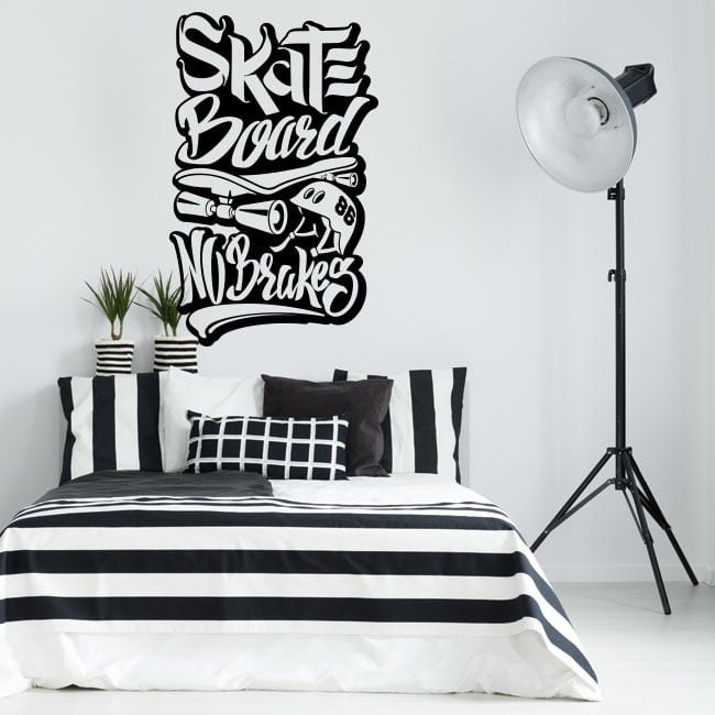 Vinyl stickers skateboard