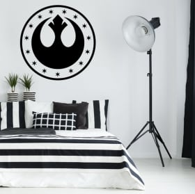 Vinyl and stickers star wars new republic symbol