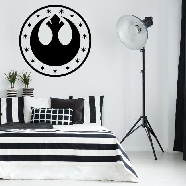 Vinyl and stickers star wars new republic symbol
