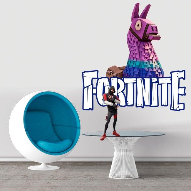 Vinyl stickers llama of fortnite