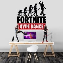 Vinyl and stickers fortnite hype dance