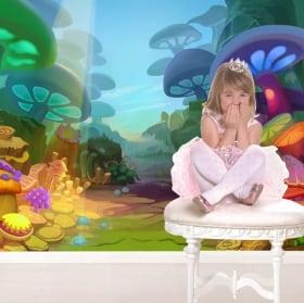 Children's murals magical forest