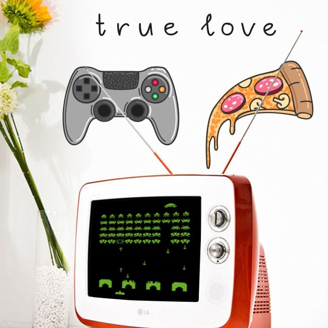 Vinyl and stickers video game true love