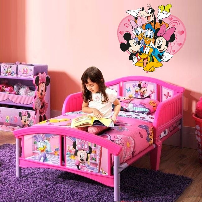 Vinyl and stickers disney mickey mouse and his friends