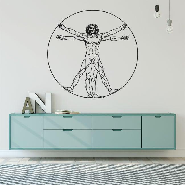 Vinyl and stickers vitruvian man leonardo da vinci