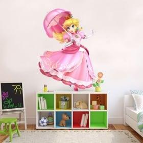Vinyl and stickers mario bros princess peach