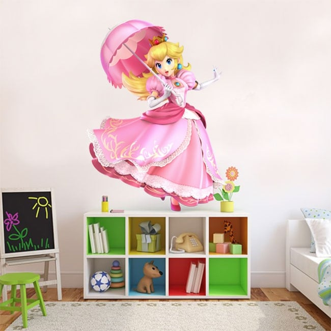 Vinyl and stickers mario bros princess peach