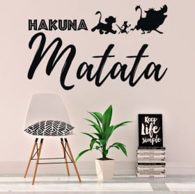 Vinyl and stickers phrase the lion king hakuna matata