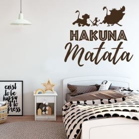 Decorative vinyl phrases the lion king hakuna matata
