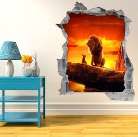 Decorative vinyl 3d the lion king