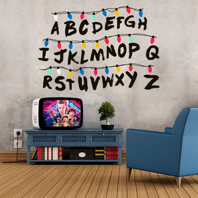 Vinyl and stickers alphabet stranger things