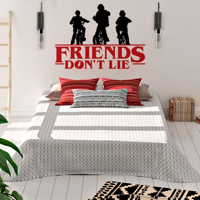 Vinyl and stickers stranger things friends don't lie