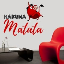 Vinyl and stickers phrase hakuna matata