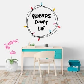 Adhesive vinyl stranger things friends don't lie