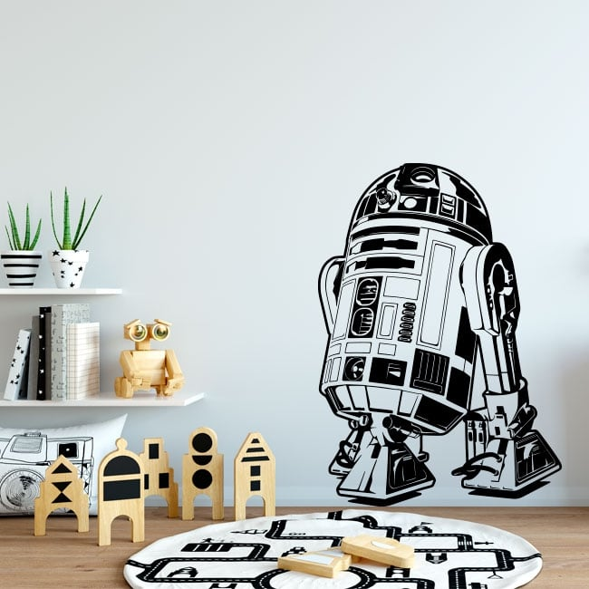 Decorative vinyl and stickers star wars r2-d2