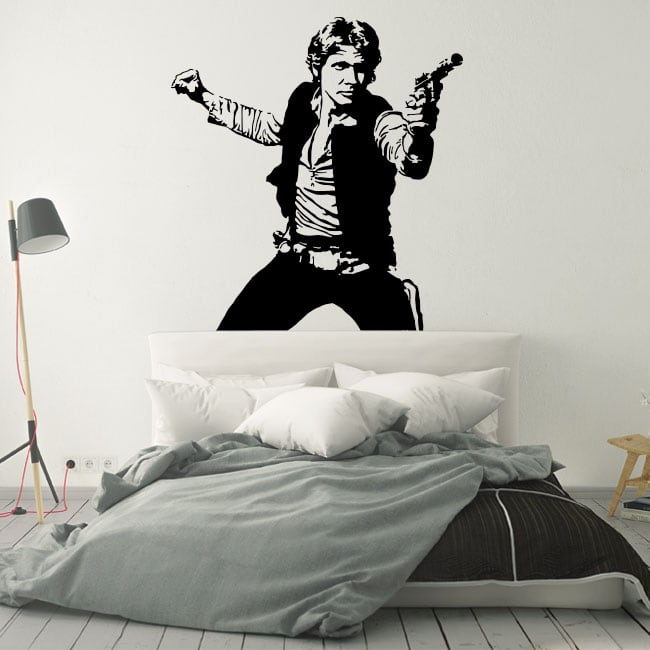 Adhesive vinyl and stickers star wars han solo