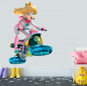 Vinyl and stickers princess mario kart
