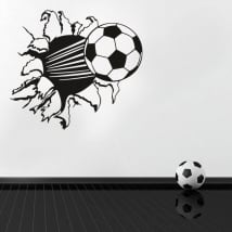 Vinyl and stickers soccer ball 3d effect