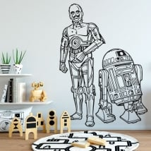 Vinyl stickers star wars r2-d2 and c-3po