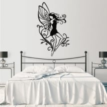 Vinyl stickers fairy silhouette