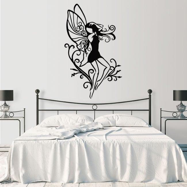 Vinyl stickers fairy silhouette