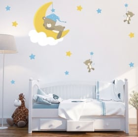 Children's or baby vinyl and stickers bears sweet dreams