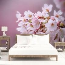 Vinyl murals japanese cherry blossom