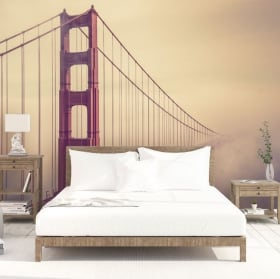 Vinyl wall murals golden gate bridge