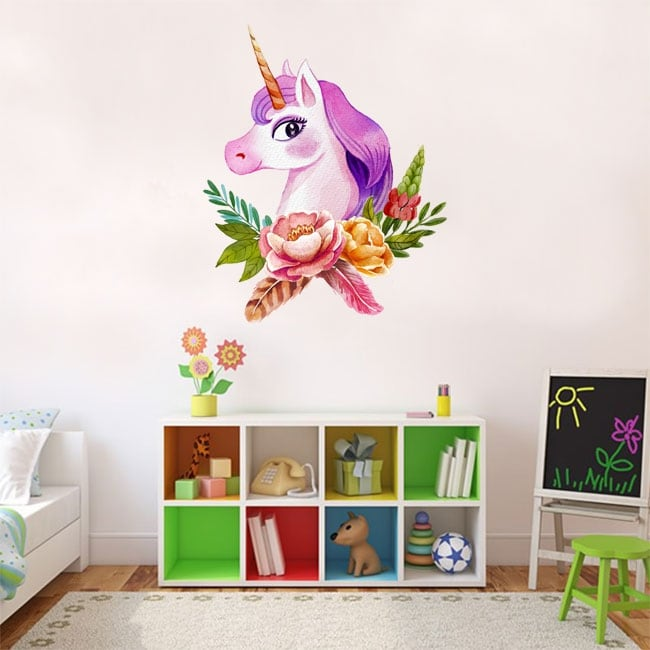 Vinyl or stickers watercolor unicorn