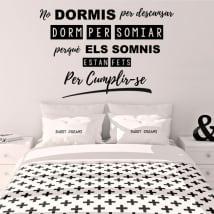Vinyl and stickers catalan phrases disney