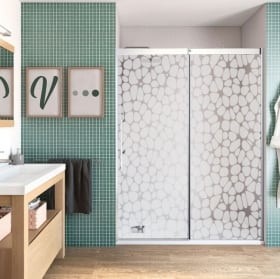Decorative vinyl for bathroom screens