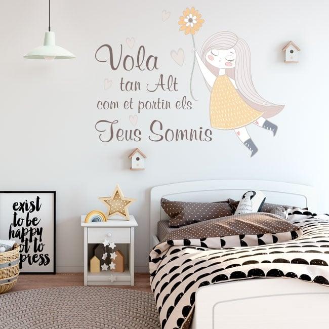 Vinyl and stickers catalan phrases vola tan alt