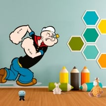 Vinyl stickers of popeye