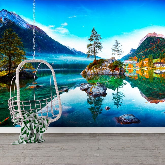 Vinyl murals germany sunrise hintersee lake