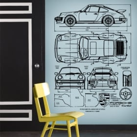 Stickers and vinyl porsche petro blueprints