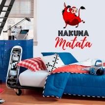 Decorative vinyl and stickers phrases hakuna matata