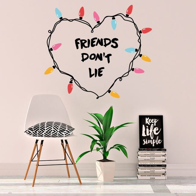 Stickers and vinyl stranger things friends don't lie