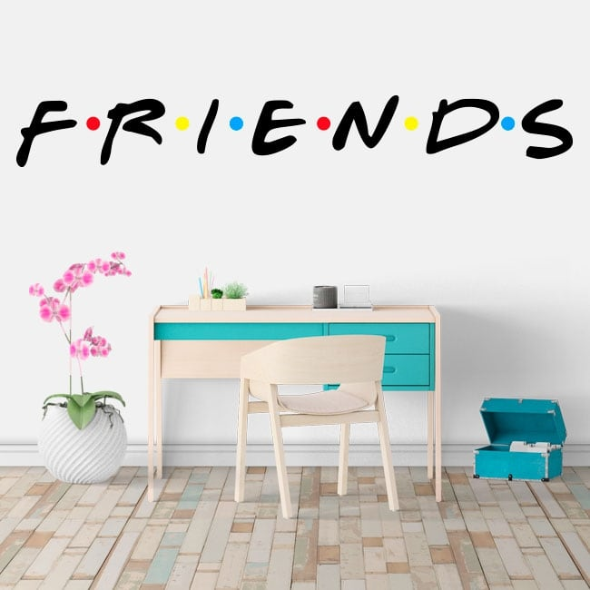 Stickers and vinyl netflix logo series friends