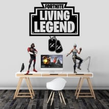 Vinyl and stickers fortnite living legend