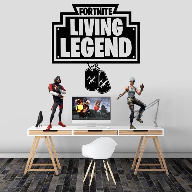 Vinyl and stickers fortnite living legend