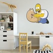 Vinyl and stickers homer simpson